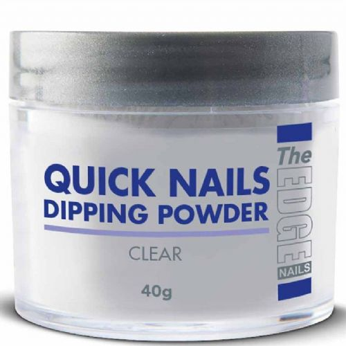 The Edge Quick Nails Acrylic French Dipping Powder - Clear 40g